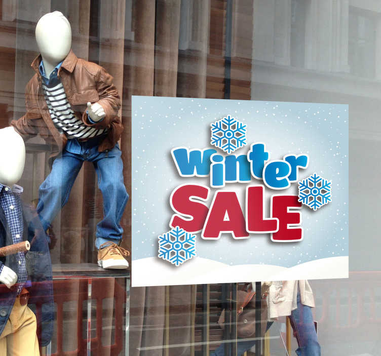 Etalage sticker winter sale