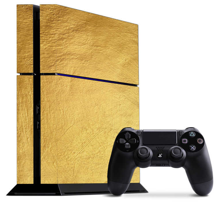 TenStickers. Gold PS4 Skin. Make your Playstation shine with this eye-catching gold PS4 skin design. Wrap your PS4 in a royal coat and show it off to your friends.