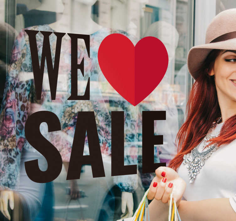 Winkel sticker we love sale