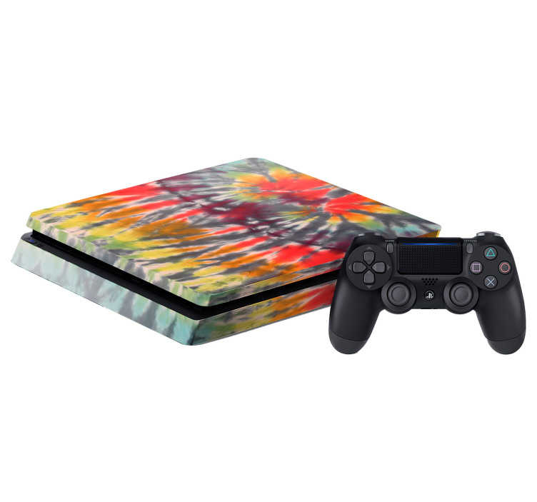 TenVinilo. Skin PS4 adhesiva multicolor. Pegatinas para consolas, para personalizar a tu gusto con un aspecto colorido y psicodélico tu Play Station.