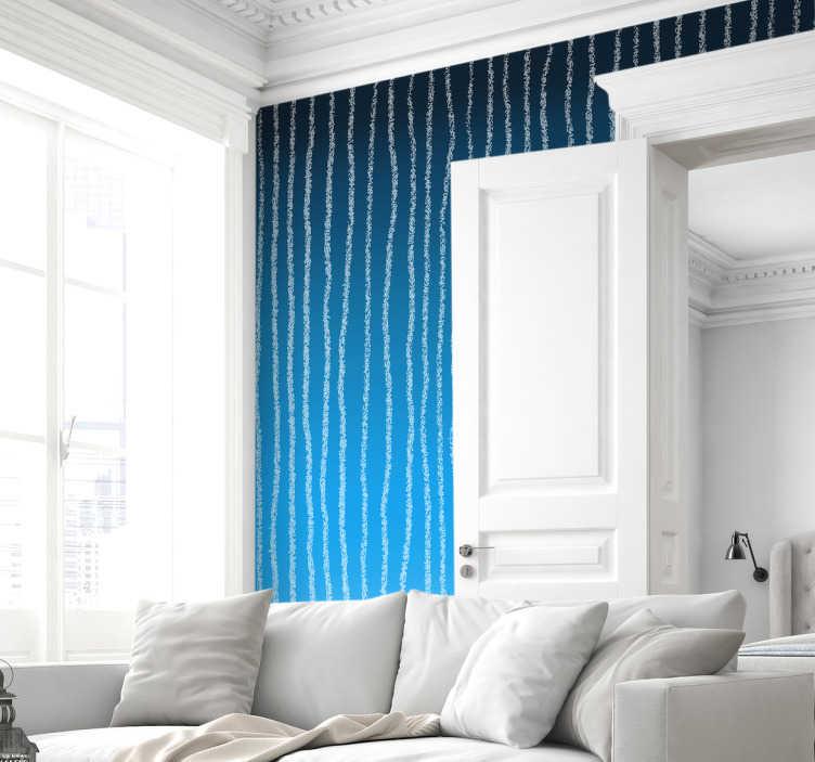 TenStickers. Sticker mural design shibori. Sticker mural aux motifs shibori bleus et blancs. Un sticker original pour transformer votre intérieur.Un sticker élégant à l'effet assuré!