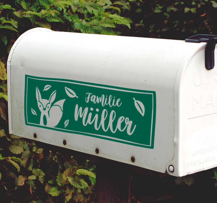 TenStickers. Briefkasten Sticker Fuchs. Ein einfach toller Aufkleber für den Briefkasten oder die Tür als tolle alternative für das Namensschild. Versiertes Designerteam