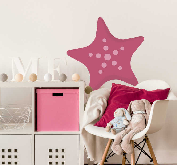 TenStickers. Kids Starfish Wall Sticker. Wall stickers for kids - Sea themed illustration of a star fish. Ideal for decorating the nursery or play areas.