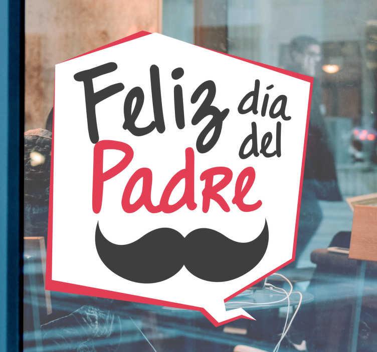 TenVinilo. Vinilo para puertas de cristal Día del Padre. Adhesivos para promoción de negocios para el próximo día del padre, sticker impreso en vivos colores.
