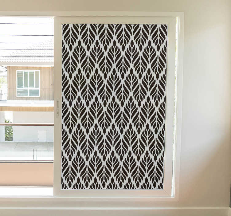 TenStickers. Crystal geometric shapes window decal. Crystal geometric shapes window sticker to decorate any space in the home or office. It is available in any dimension required.