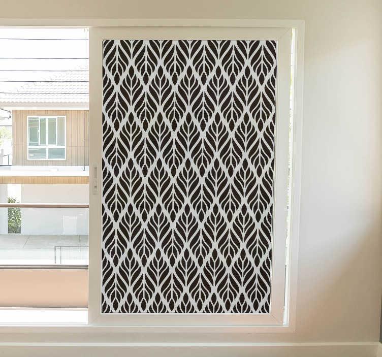 TenVinilo. Vinilo cristal formas geométricas. Vinilos para ventanas, cristales o mamparas de ducha con una elegante textura vegetal disponible en el tamaño que requieras.