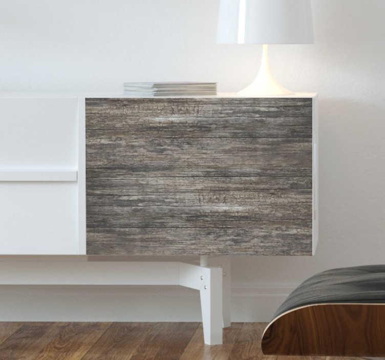 TenStickers. Hout sticker resthout. Is uw tafel veroudert of bent u de simpele witte Ikea meubels zat? Met deze houtsticker brengt u een robuuste sfeer in huis.