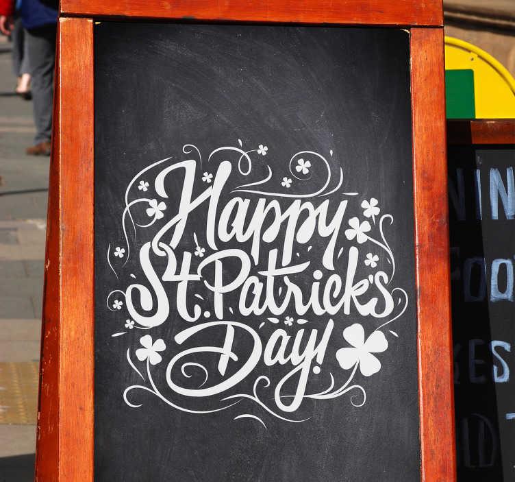 TenVinilo. Vinilos para bares StPatrick's Day. Vinilos San Patricio ipensados para bares y pubs que vayan a celebrar por todo lo alto el santo patrón de Irlanda el próximo marzo.