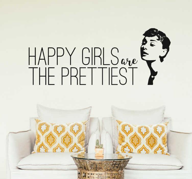 Adesivi Murali Audrey Hepburn.Adesivo Decorativo Audrey Hepburn Tenstickers