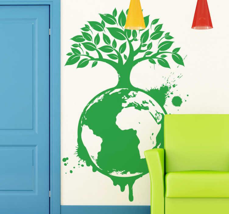 Naklejka ekologiczna kula ziemska