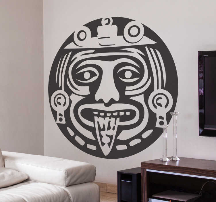 TenStickers. Aztec symbol wall decal. Aztec symbol wall sticker to create a tribal atmosphere in any space of choice. It is available in any size you want and it application is easy.