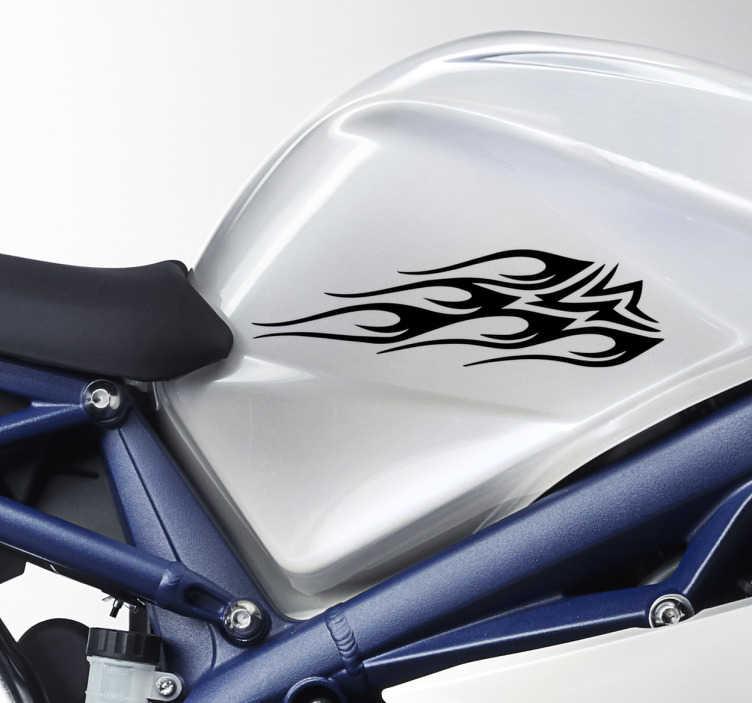 TenStickers. Motorradaufkleber Tribal. Cooler Motorradaufkleber mit einem Tribal. Verlieht Ihrem Zweirad einen coolen Look und lässt Sie zum Hingucker werden.