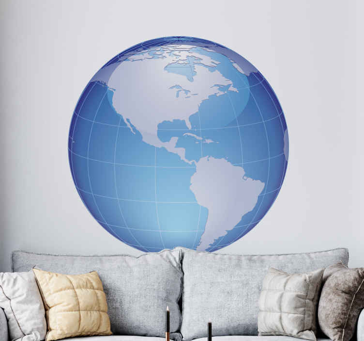 TenStickers. World Map America Sticker. Another creative sticker of the world map showing us the biggest continent, America. Perfect to fill that empty space in your bedroom.