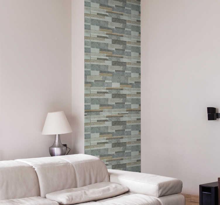 TenStickers. Naklejka na ścianę kamienna faktura. Dzięki tej naklejce na ścianę, przedstawiającej kamienną strukturę w kolorach szarości, Twój salon nabierze eleganckiego i nowoczesnego wyglądu! Naklejka dostępna w różnych rozmiarach!