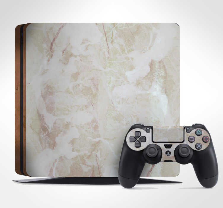 TenStickers. Marble Effect PS4 Skin. Personalise and protect your PS4  with this stylish marble effect PS4 skin. Make your console and controller stand out with this simple yet effective high quality design that is easy to apply and leaves no residue if removed.