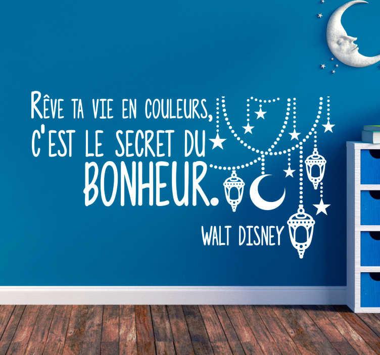 TenStickers. Sticker Maison Chanson Disney. Un sticker mural citation qui constitue une idée de cadeau magique ! Idéal pour votre salon ou votre chambre, une déco pour tous les fans de Disney !