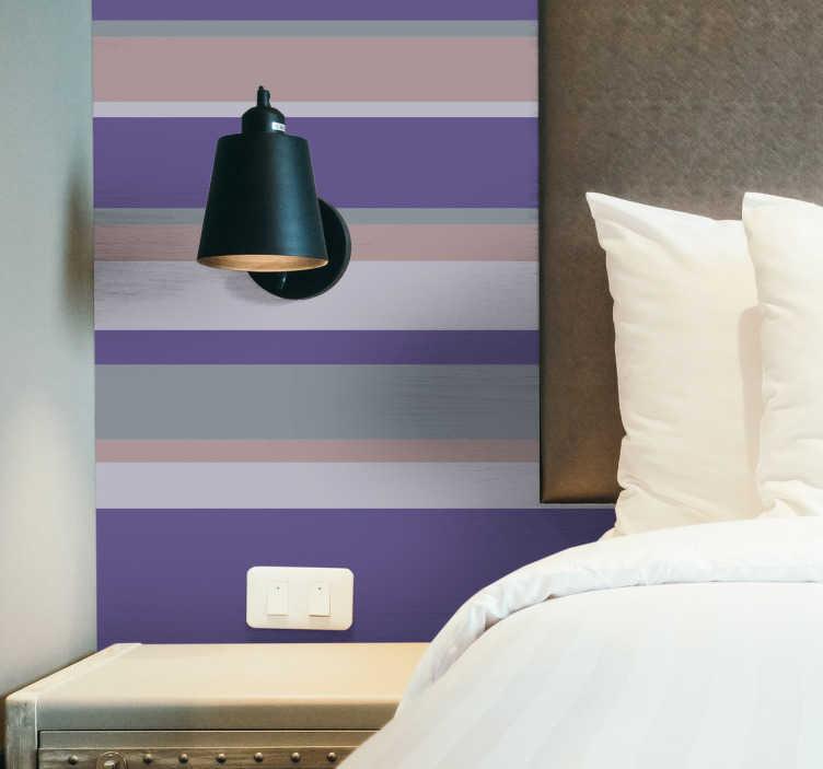 TenStickers. Mural de parede ultra violeta. Se pretende dar mais cor ao seu quarto dê uma olhadela neste mural de parede em tons de roxo, cinza e bege, para dar nova vida a este seu espaço.