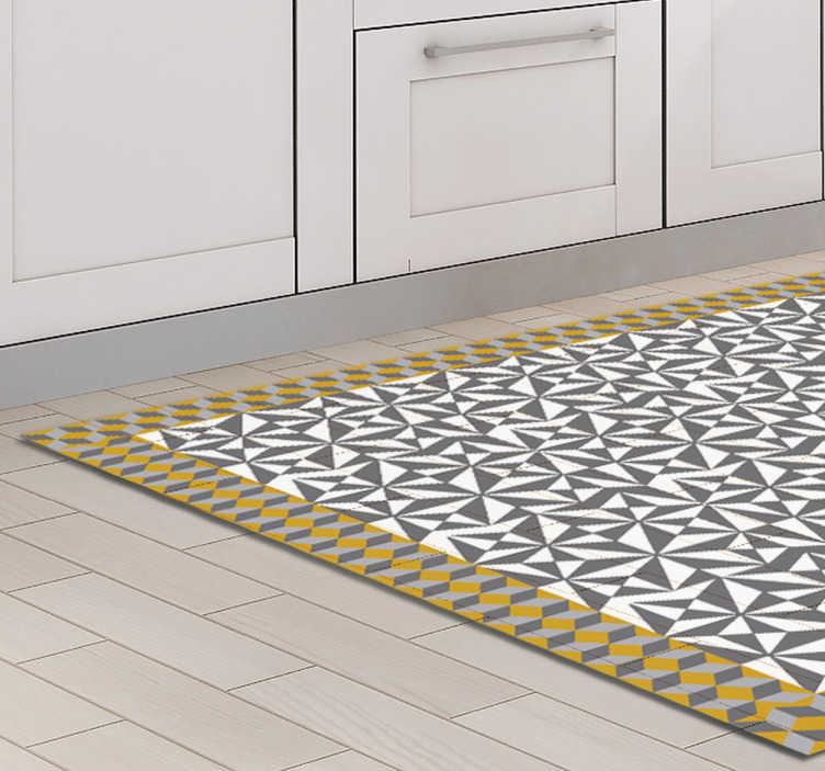 TenStickers. Arabic mosaic  vinyl sticker floor tile decal. An Arabic decorative mosaic floor sticker to decorate a floor space in a home or any place of choice. Available in any required size.