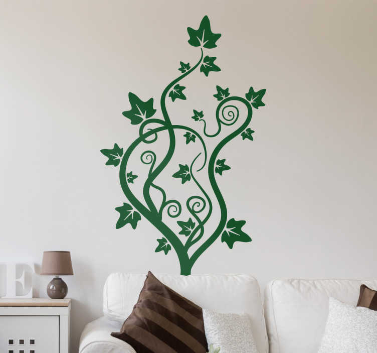 TenStickers. Creeper plant wall decal. Creeper plant wall sticker to decorate a home space.It is available in different colours and size options. Easy to apply and adhesive.