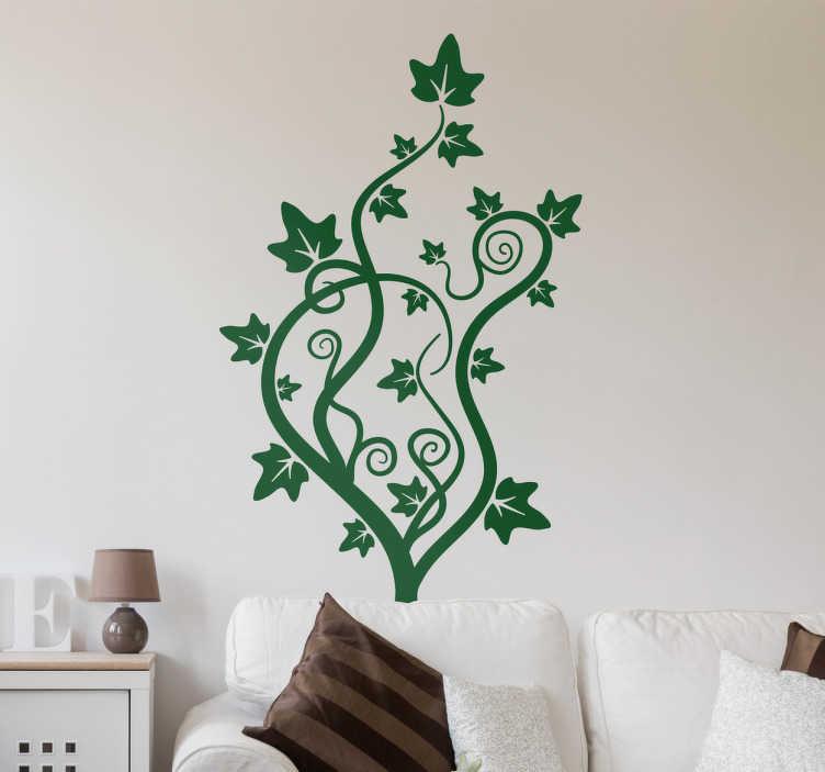 TenVinilo. Vinilo decorativo dibujo enredadera. Vinilo ornamental de inspiración vegetal con un diseño elegante y llamativo que quedará perfecto decorando tu salón o tu dormitorio.
