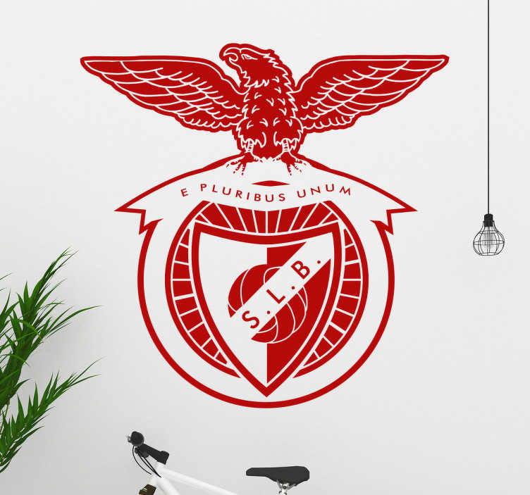 TenStickers. Sport Lisboa and Benfica football sticker. Sport Lisboa and Benfica football wall decal made of high quality vinyl and adhesive on any flat surface. It is available in any size required.