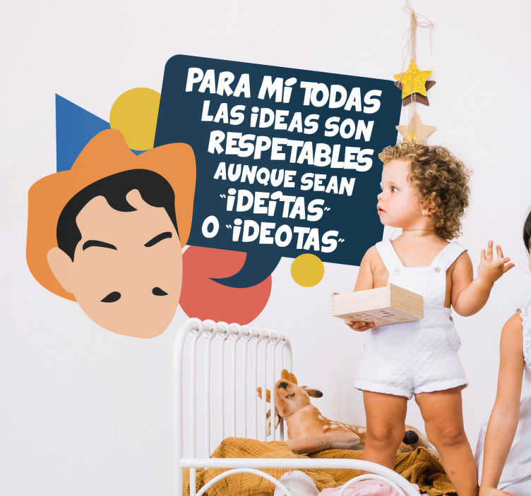 TenVinilo. Vinil infantil Cantinflas cita famosa. Vinil decorativo con una divertida frase de tu actor y comediante favorito, Mario Moreno Cantinflas .
