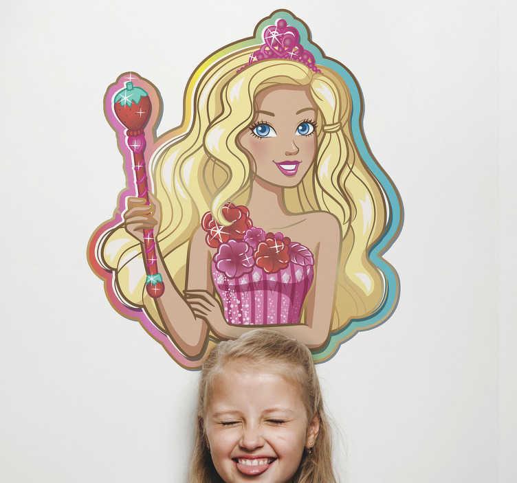 Autocolantes parede Barbie