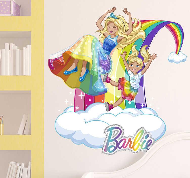 Vinilo Barbie Chelsea arco iris