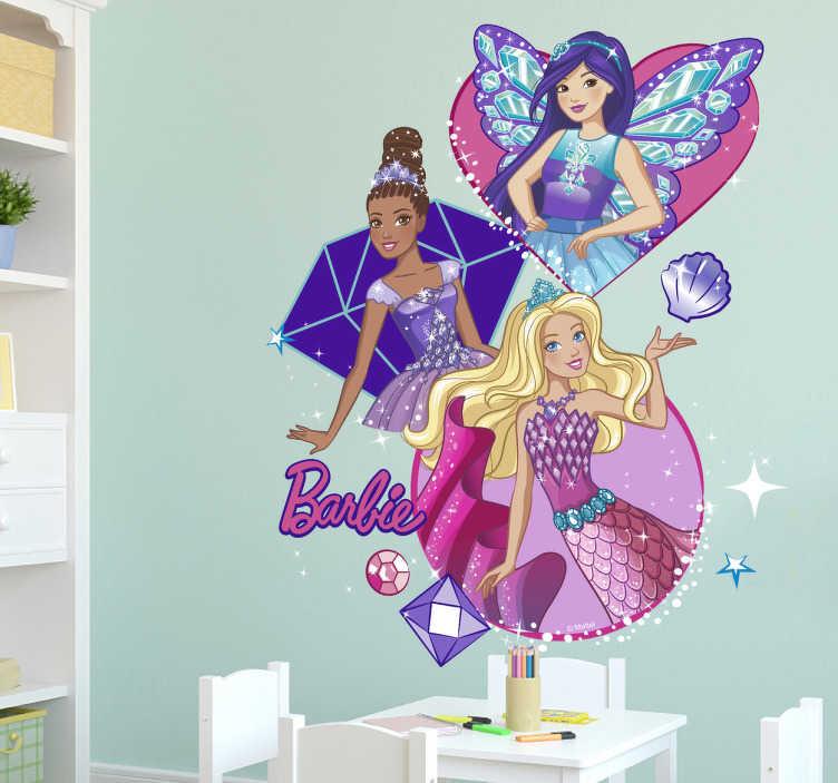 Adesivo de parede da Barbie acompanhada
