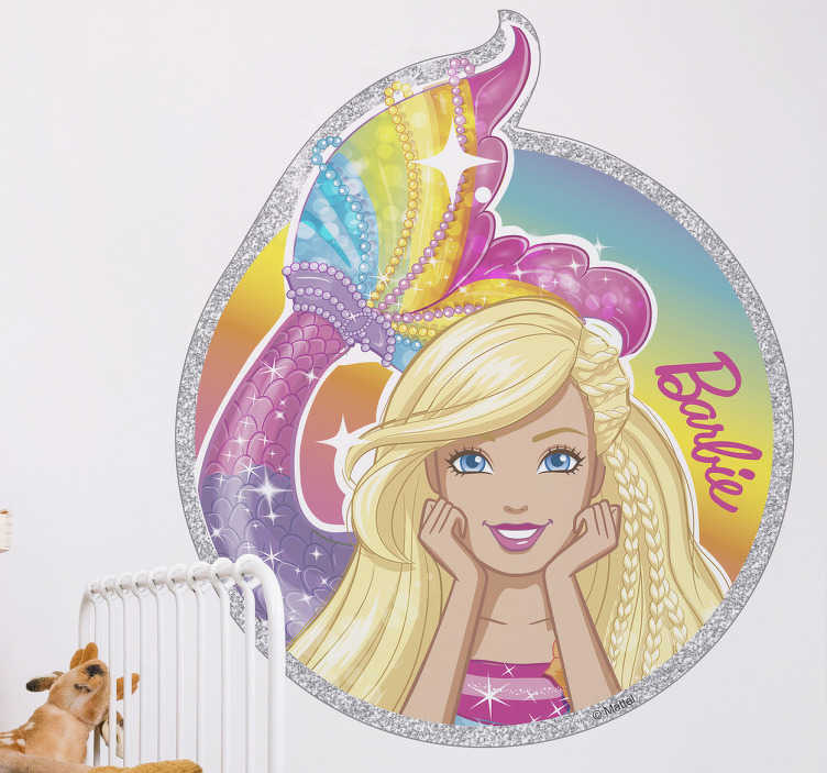 Vinilo Barbie sirena Dreamtopia