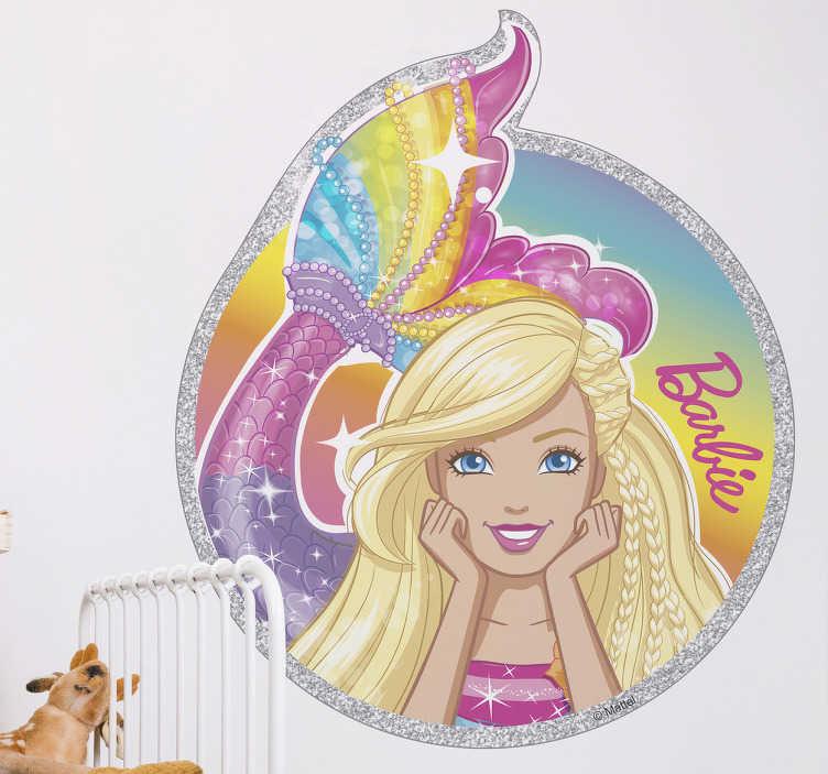 Vinil decorativo infantil sereia Barbie