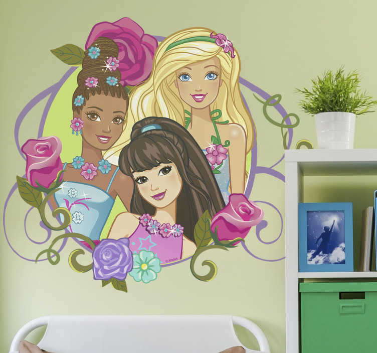 Vinilo infantil Barbie personajes