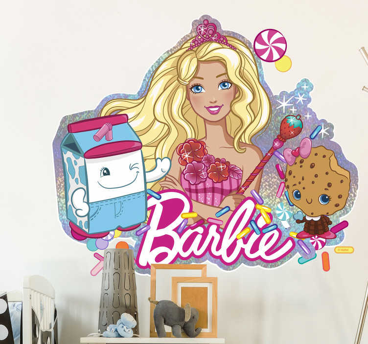 Vinil decorativo parede da Barbie