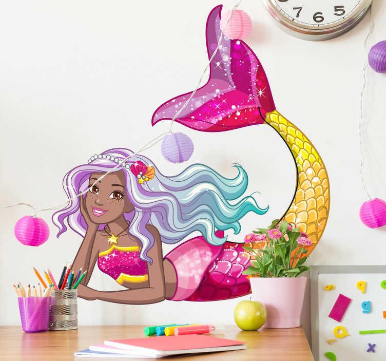 Pegatinas Barbie sirena reino Arcoíris