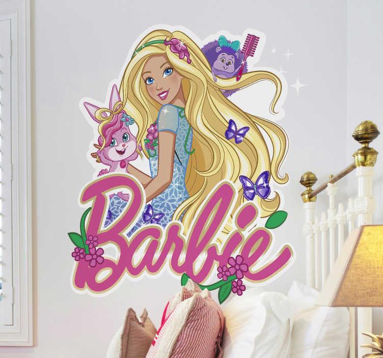 Adesivo Barbie acompanhada