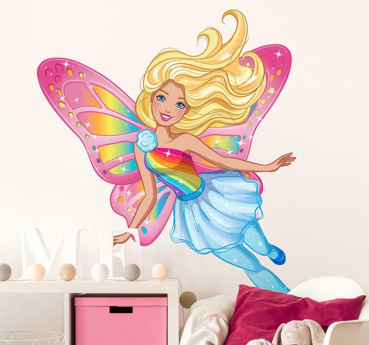Vinilo decoración Barbie mariposa