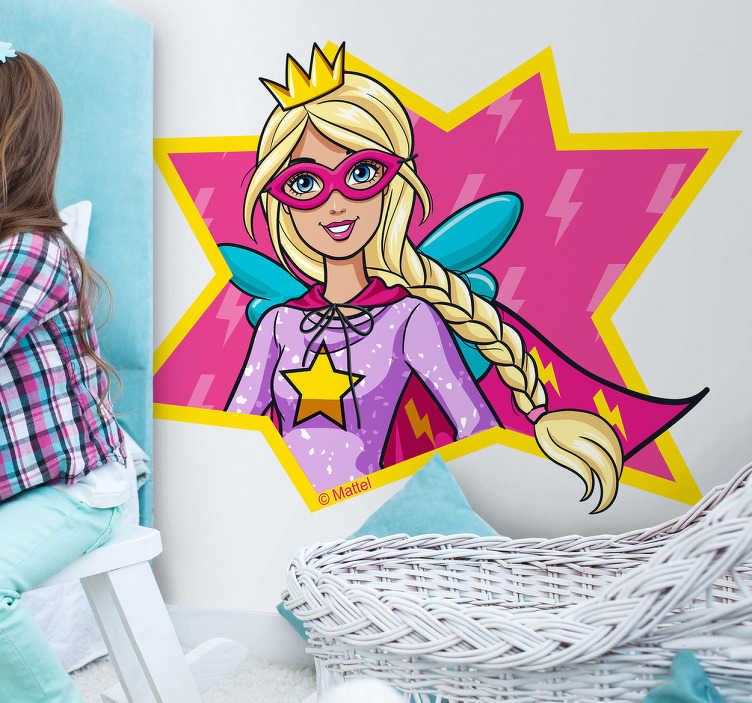 Autocolante de parede Barbie Heroína