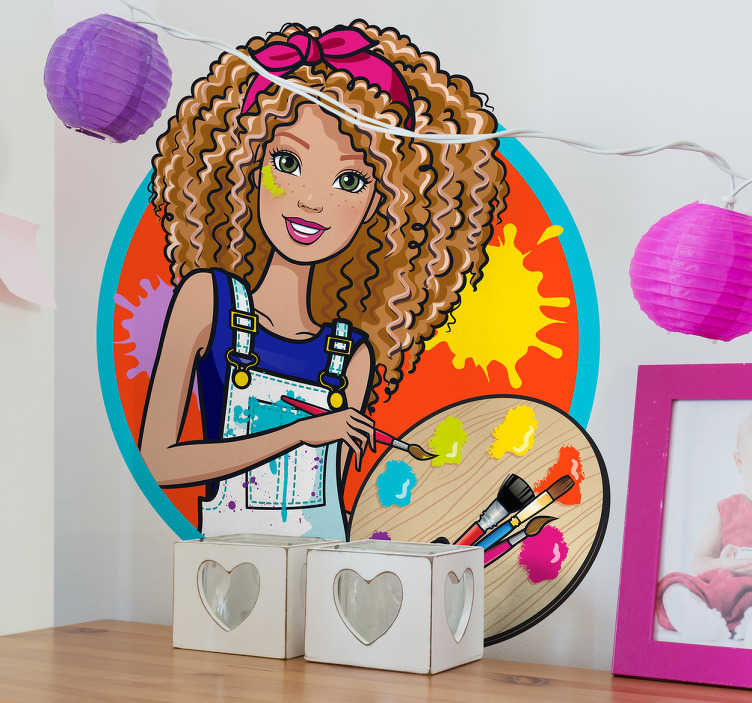 Pegatinas Barbie profesiones pintora