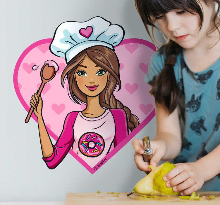 Autocolante de parede Barbie Cozinheira