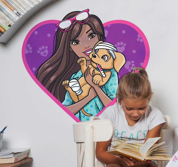 Autocolante decorativo Barbie veterinária