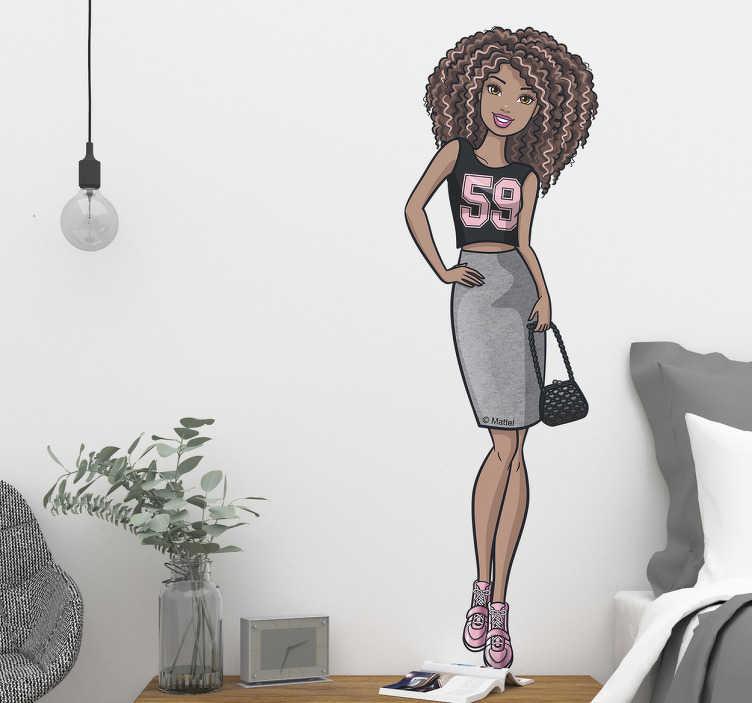 Pegatina black Barbie moda