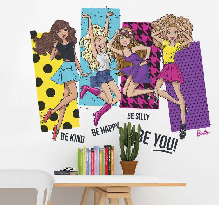 Adesivo de parede Barbie frases