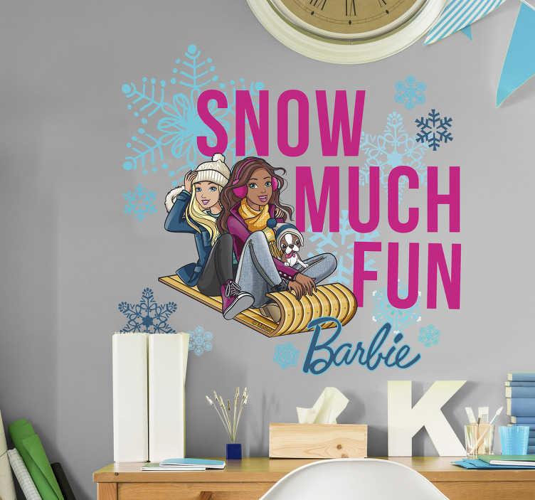 Vinilos Barbie en la nieve