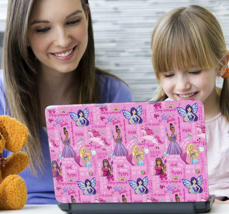 Sticker Barbie fantasía portátil