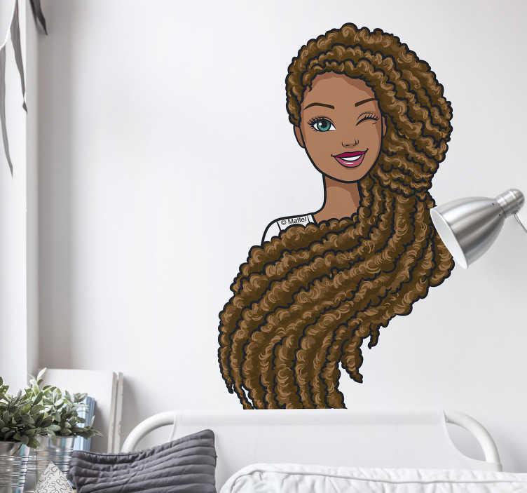 Autocolante de parede Barbie morena