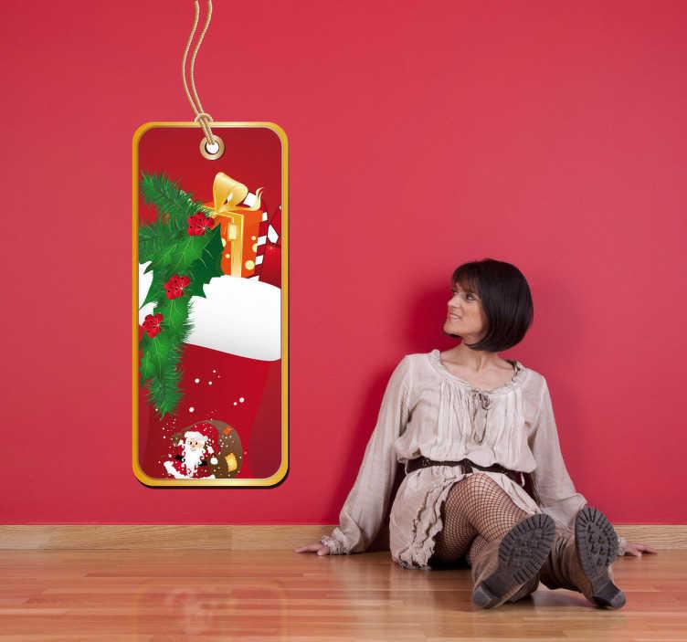 Naklejka etykietka świąteczny prezent