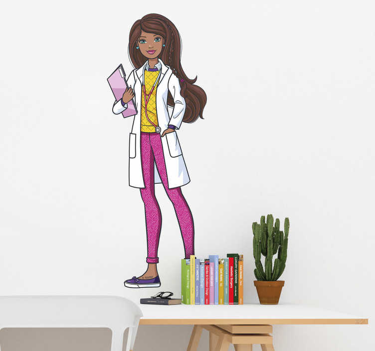 Pegatinas Barbie doctora