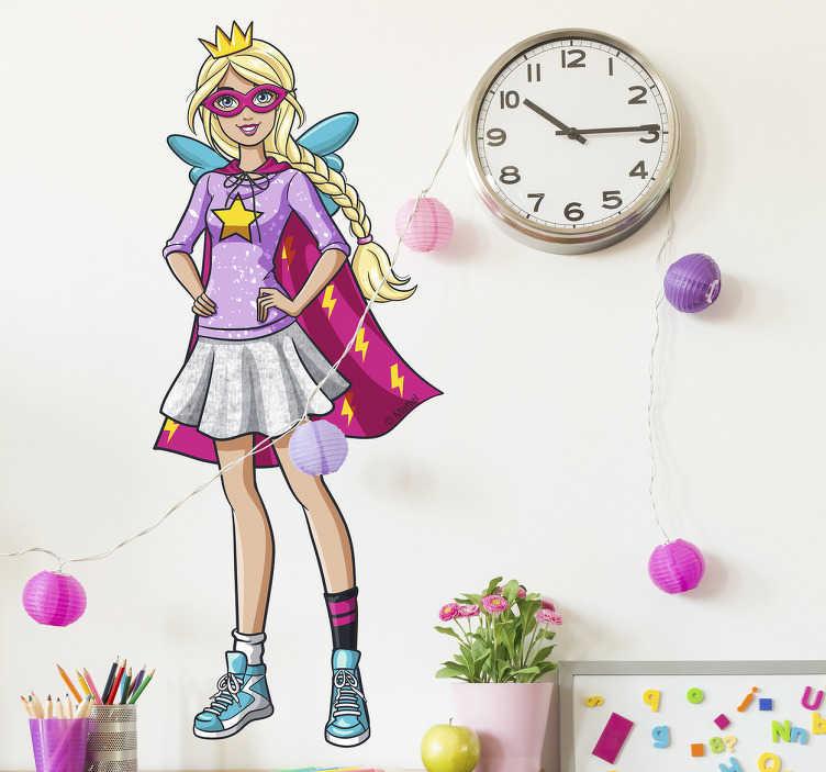 Sticker Super Barbie