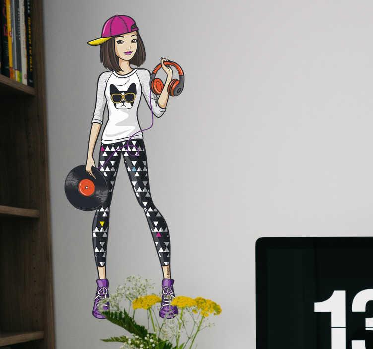 Vinilo decorativo da Barbie DJ