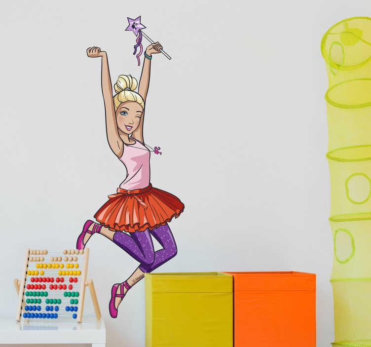 Autocolantes parede Barbie bailarina
